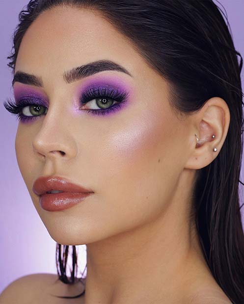 Bold Purple Eye Makeup