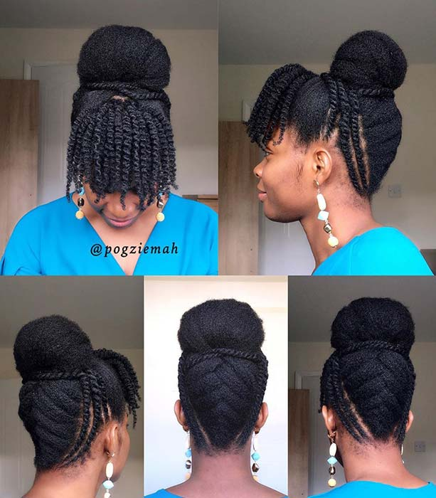 Natural Updo with Bangs