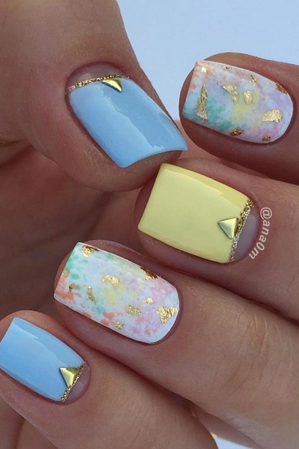 Bright Pastel Nail Design for the Summer