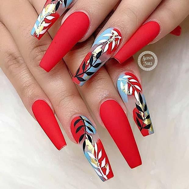 Bright and Tropical Nail Art