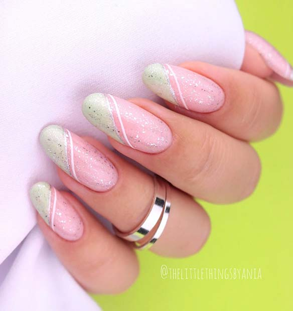 Pastel Candy Stripe Nails