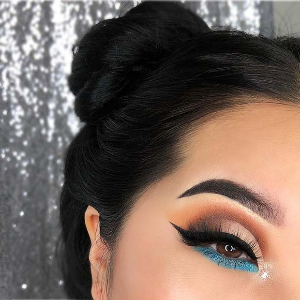 Cute Crease with a Pop of Blue