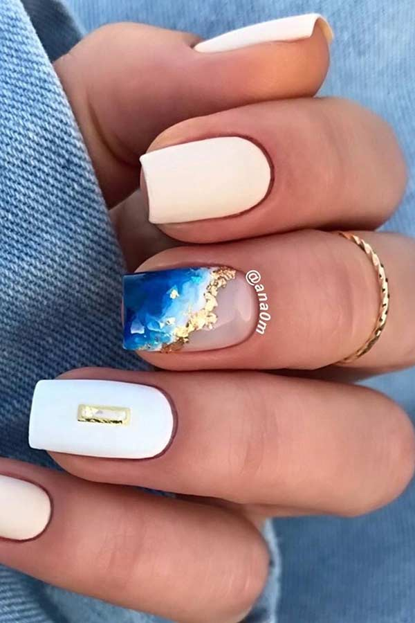 Crystal Geode Nail Design