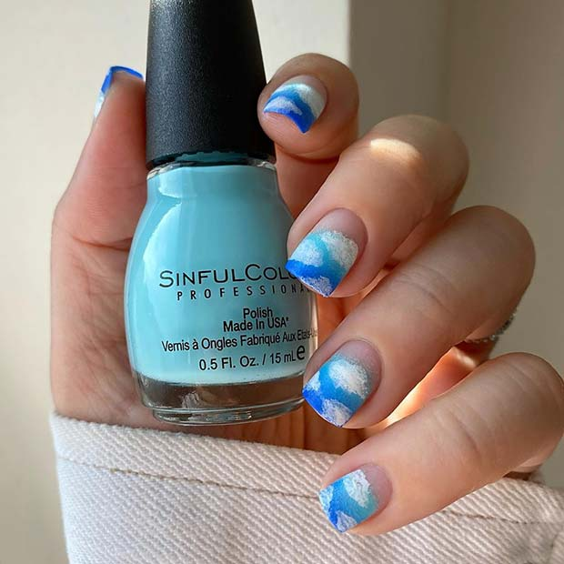 Cute Clouds Nail Design