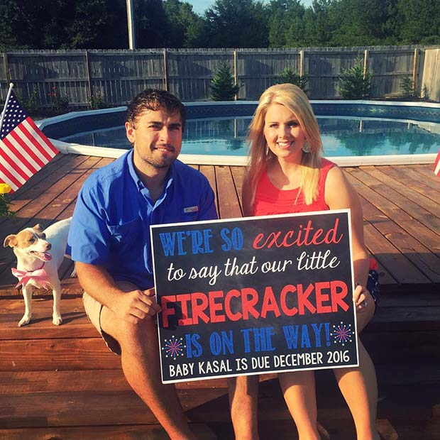Firecracker Pregnancy Announcement for the 4th of July