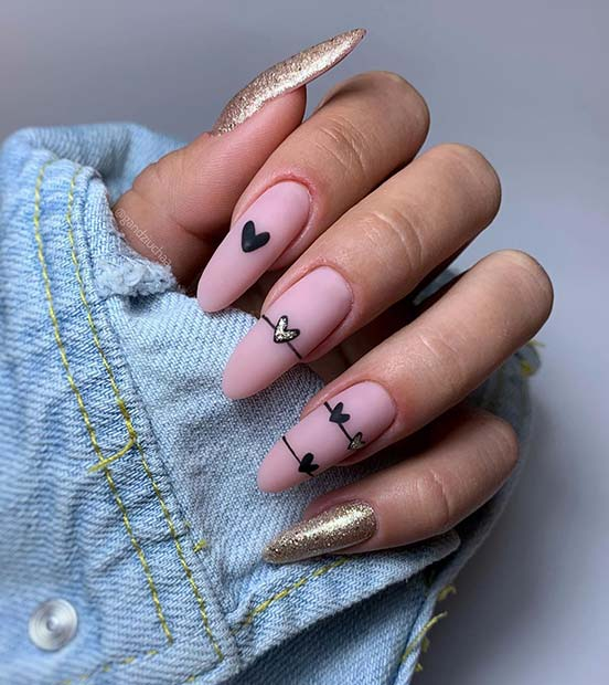 Cute Heart Nail Art