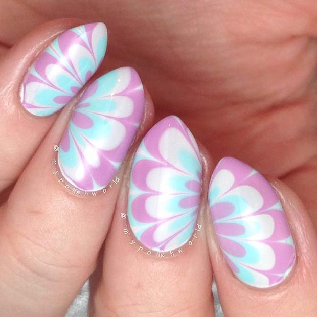 Cute Marble Nail Art