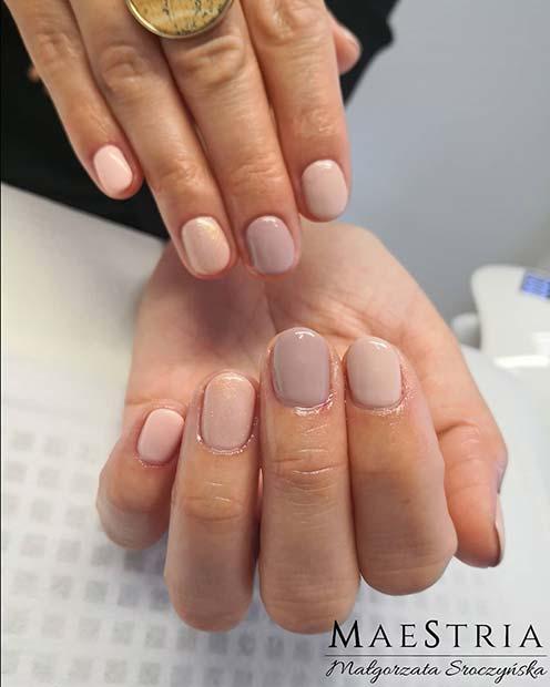 Natural Nail Designs for Short Nails