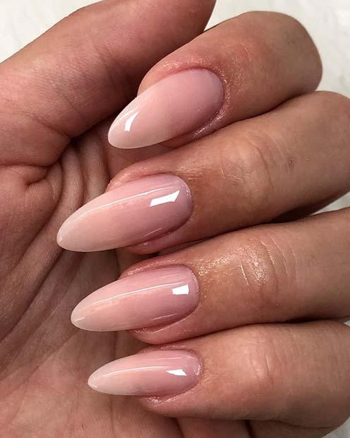 Elegant Ombre Nail Design