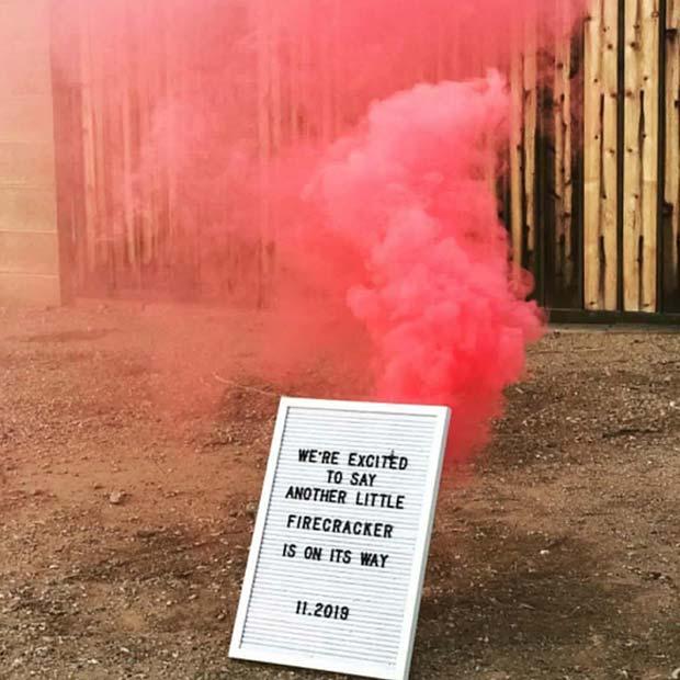 Firecracker Reveal with Smoke
