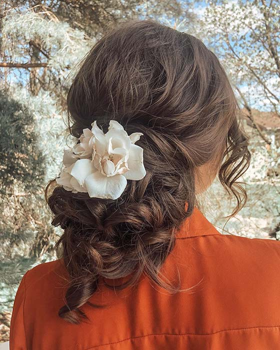Floral Homecoming Hairstyle