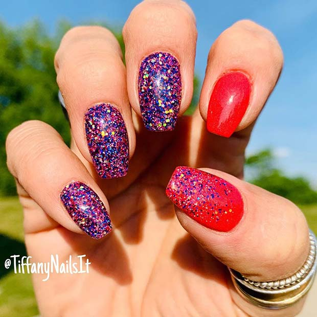 Fun Glitter Mani