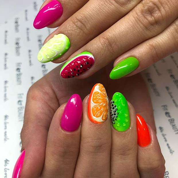 Fun and Fruity Nails