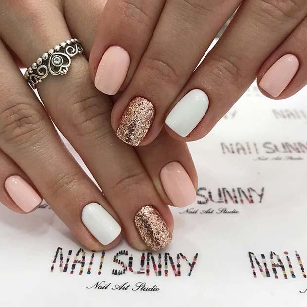 Glam Nail Design for Short Nails