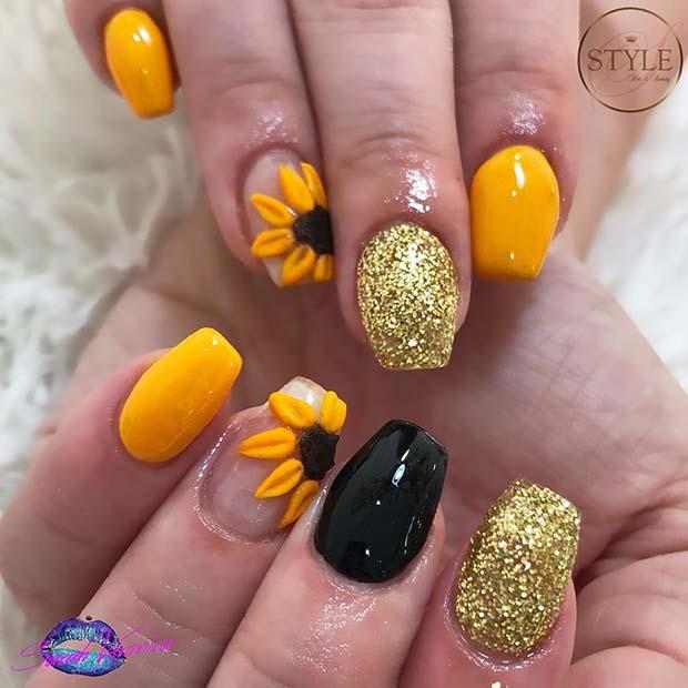 Glitzy Nail Idea