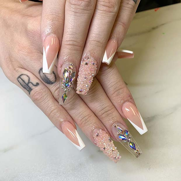 Glitzy and Glam Nail Idea