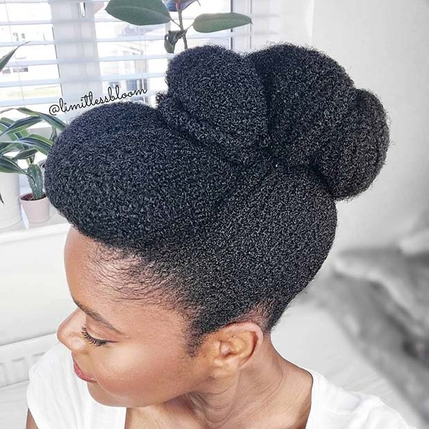 Gorgeous Natural Updo