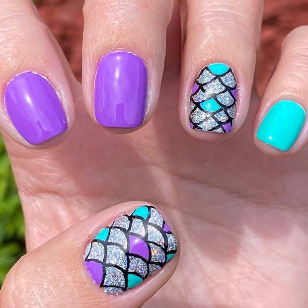 Cute Mermaid Nails