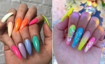 Cute Multi Colored Nails