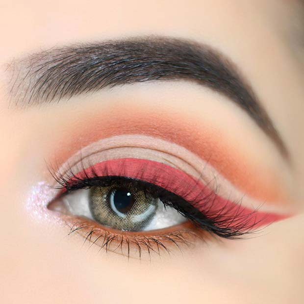 Cut Crease and Matte Eyeliner