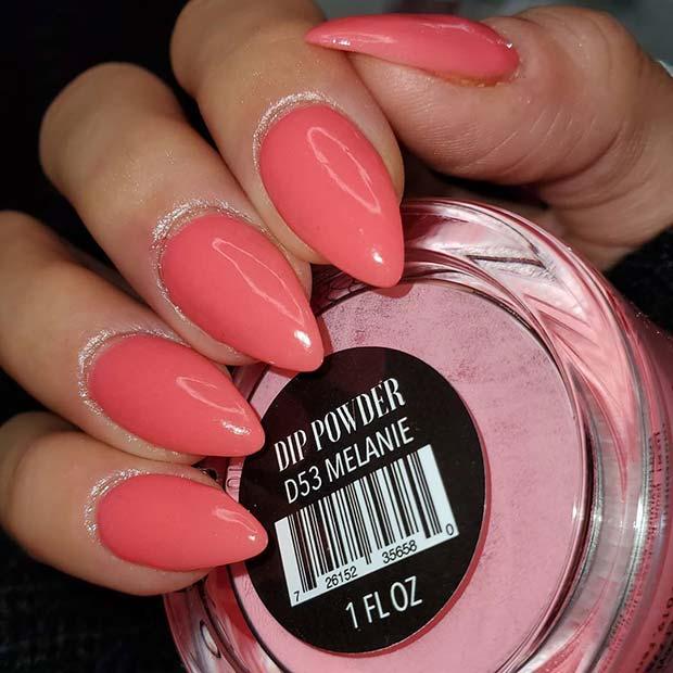 Pretty Pink Nail Idea