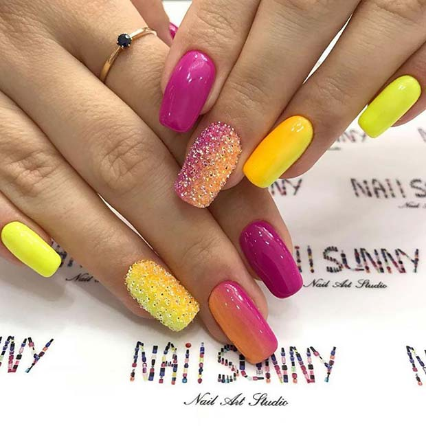 Purple, Orange and Yellow Design