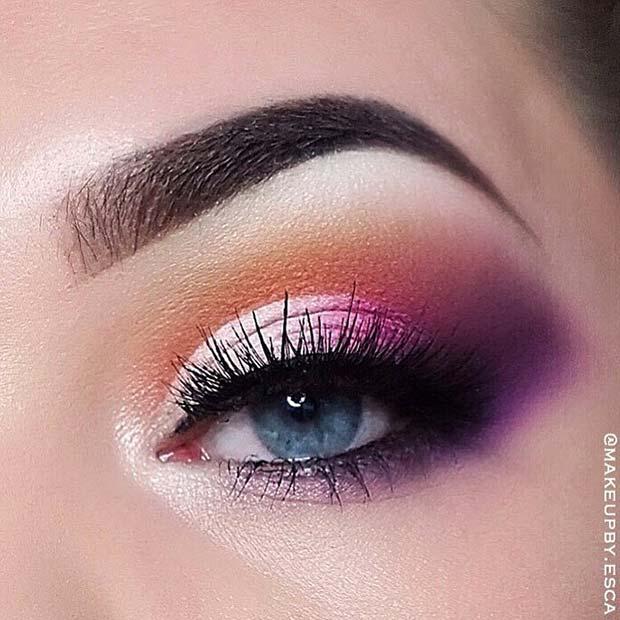 Colorful Eye Makeup Idea