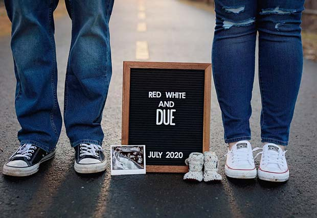 21 Cute 4th of July Pregnancy Announcement Ideas | StayGlam
