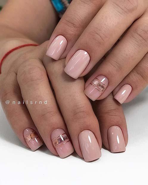 Short Nails with Trendy Nail Art