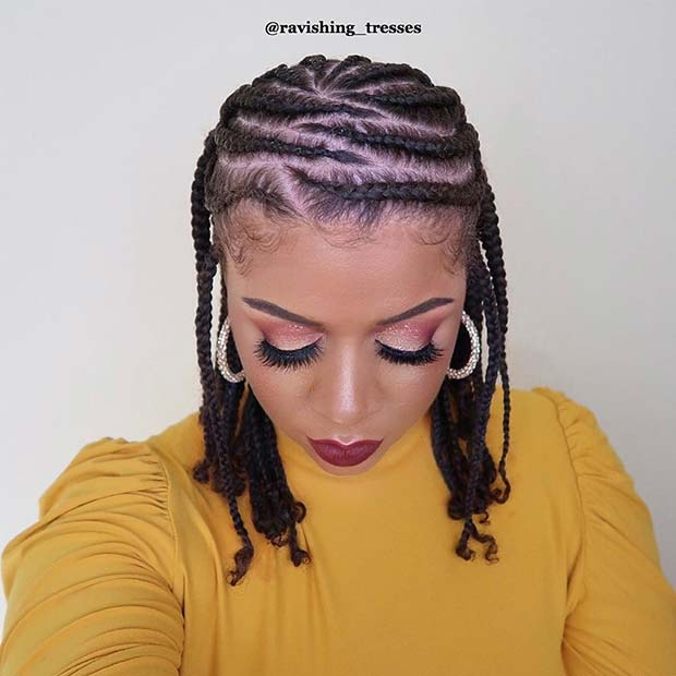 Stylish Cornrow Braids for Natural Hair
