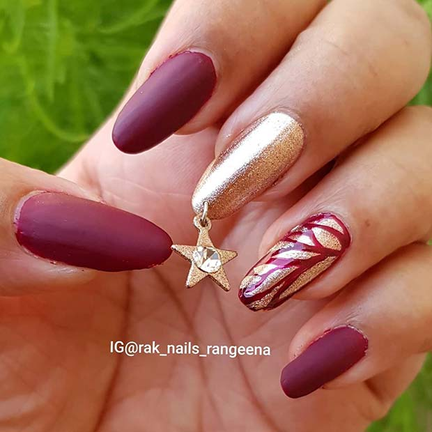 Stylish Nails with a Star Charm