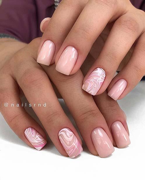 Trendy Natural Nail Design