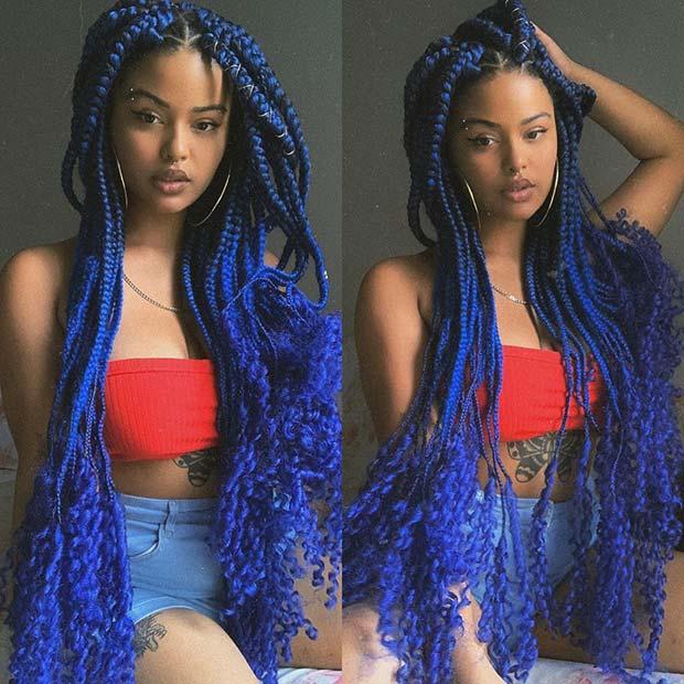 Jumbo Blue Goddess Braids