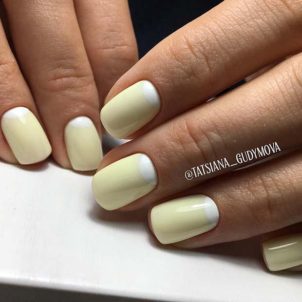 White and Yellow Design