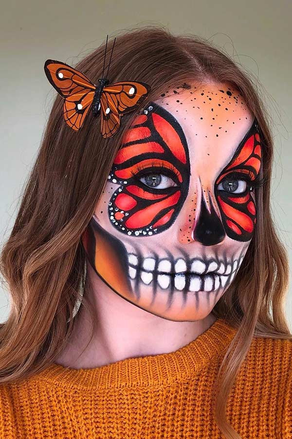 Bold Butterfly Makeup for Halloween