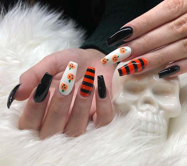 Classic Halloween Nail Design