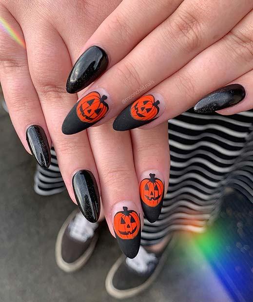 Classic Pumpkin Nail Art