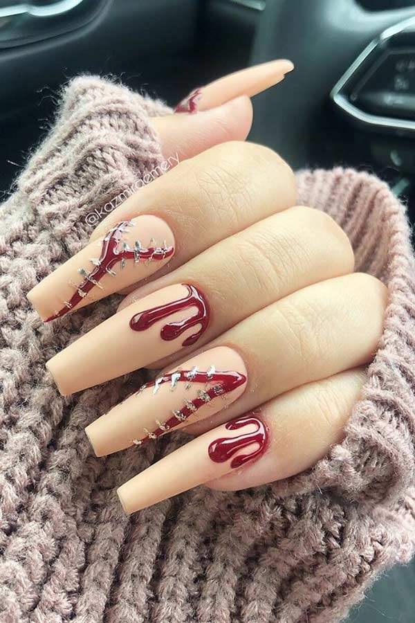 Coffin Nails for Halloween