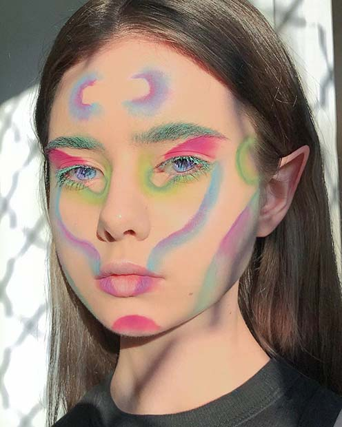 Colorful and Unique Makeup