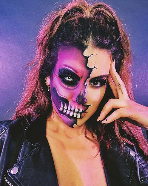 Cracked Skeleton Makeup