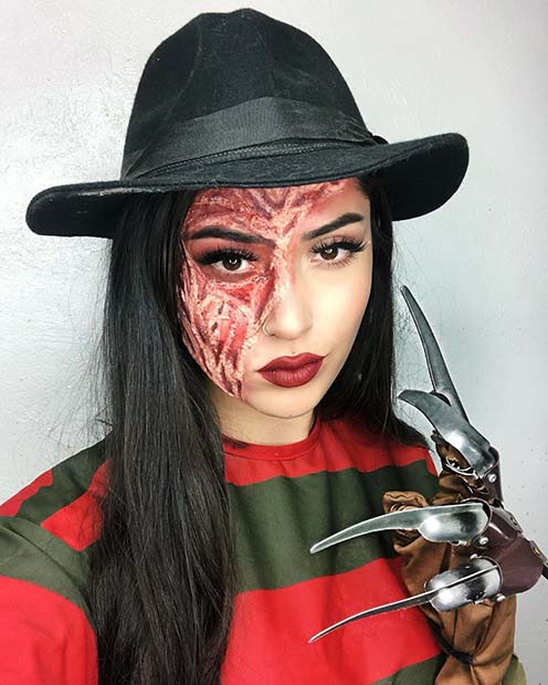 Creepy Freddy Krueger Makeup