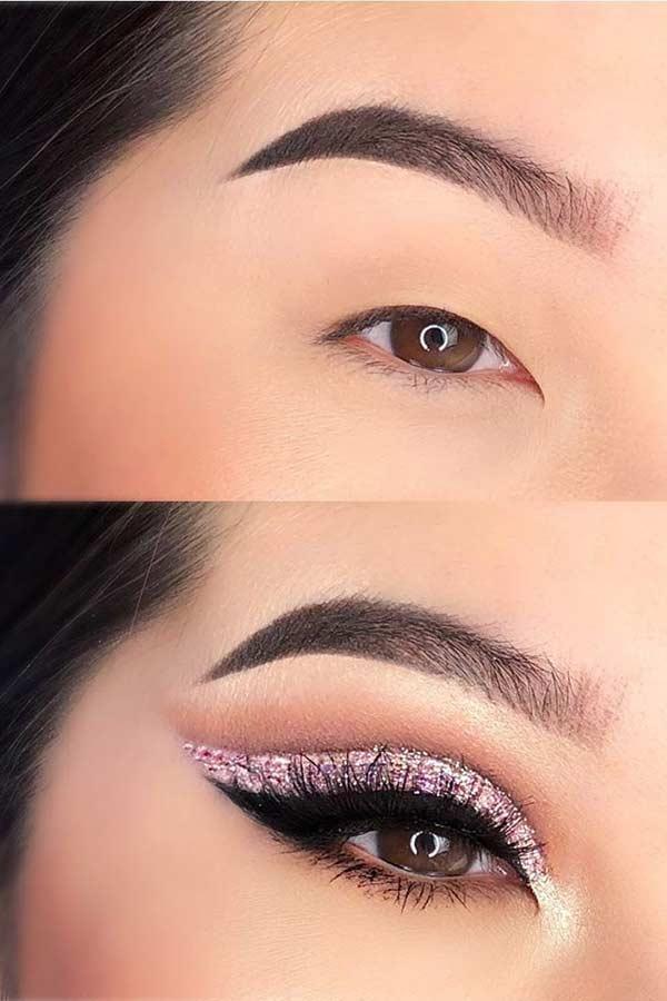 Cut Crease Eye Makeup Idea for Hooded Eyes