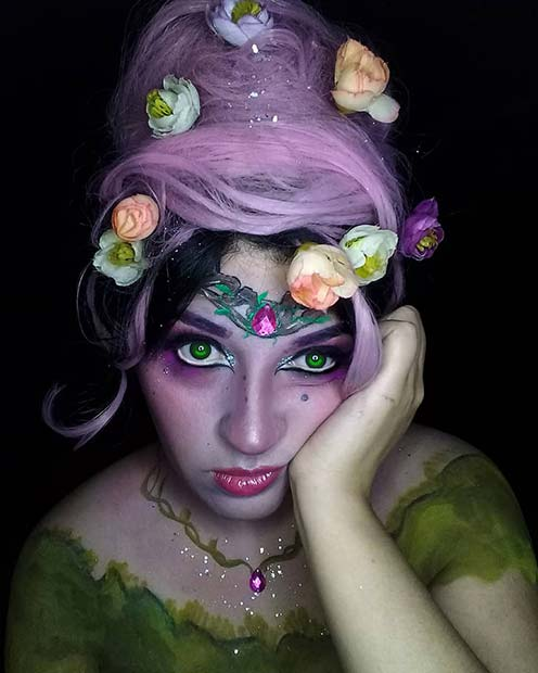 Cute Flower Fairy Makeup
