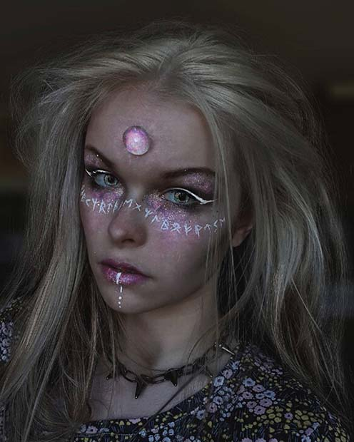 Dark and Mystical Fairy Makeup Idea