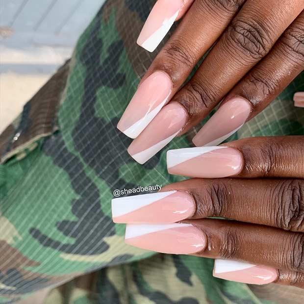 Diagonal White Tips