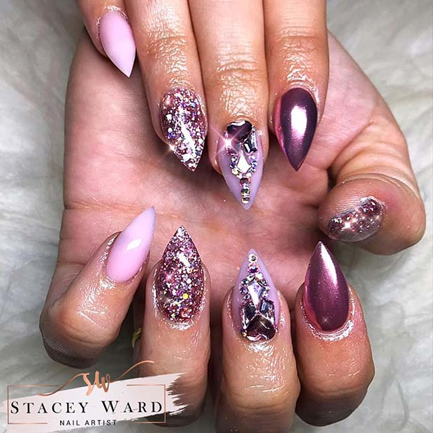 Gorgeous and Glam Mani