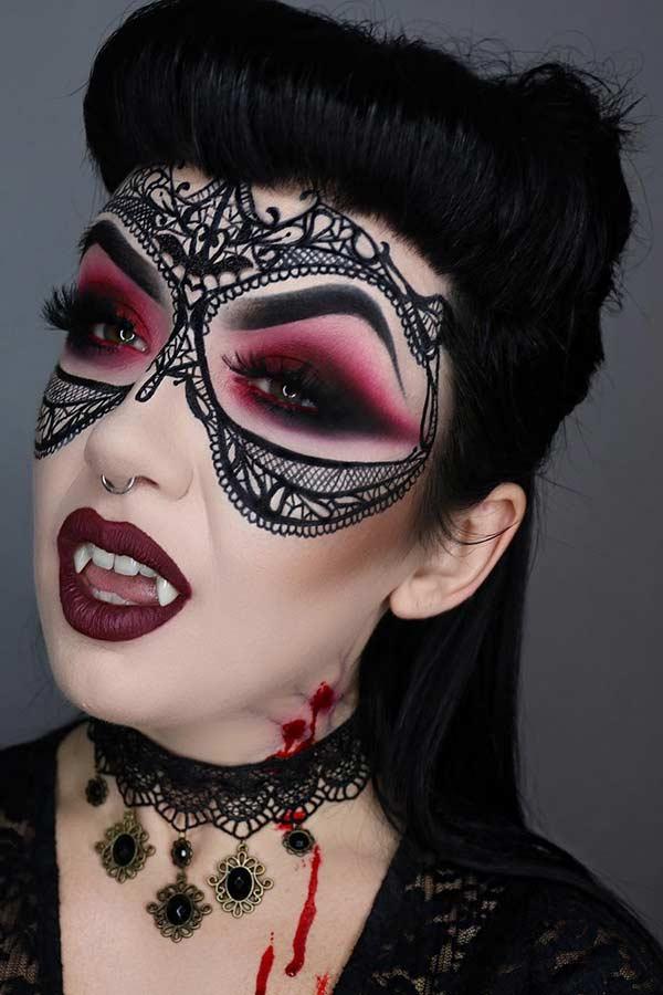 Gothic Vampire Makeup Idea