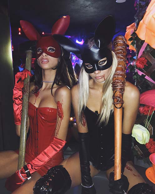 Halloween Bunnies Costume Idea for BFFs