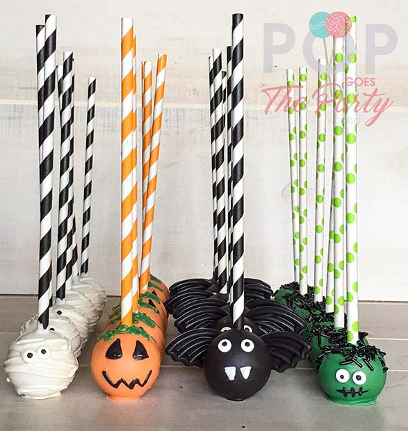 Halloween Theme Cake Pops