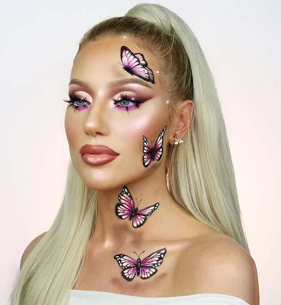Magical Purple Butterflies